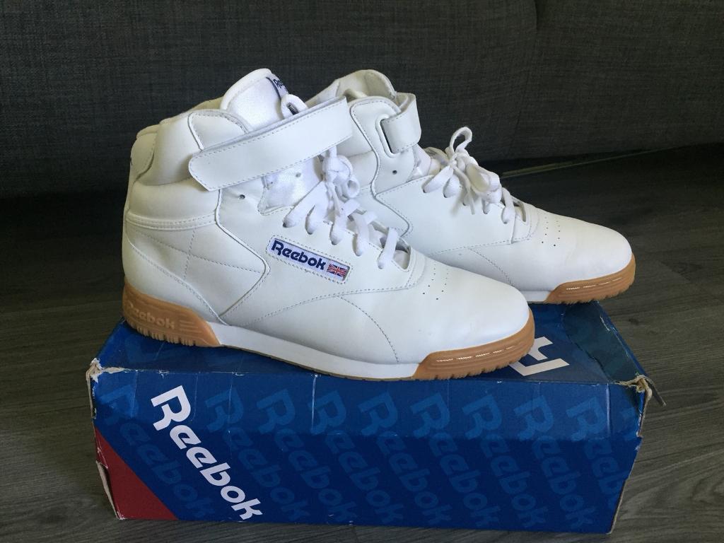 Reebok Classic Ex-O-Fit Hi White Gum Size 9UK  620889420