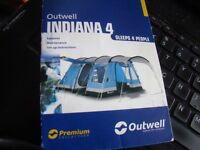 Outwell Indiana 4 (Premium Collection) sleeps 4 (2 bedrooms)