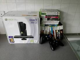 Xbox 360 250GB Kinect Edition + 25 games + 2 controllers
