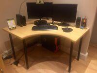 MUST GO! Wooden corner desk