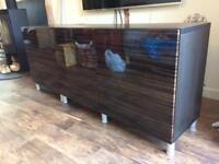 Ikea media/Sideboard Unit with High Gloss Doors