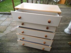 Chest of drawers - bargain cheap - bedroom 5 drawers unit