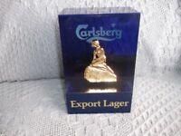 CALSBERG EXPORT LARGER BAR ADVERT.