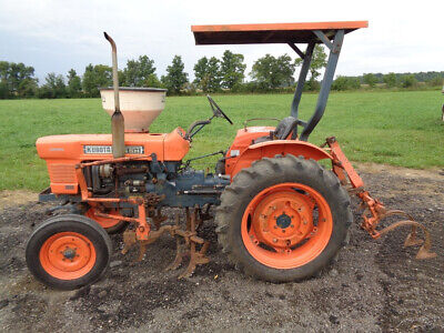 1983 Kubota L245h Tractor Orops 2wd High Clearance W Row Cultivators
