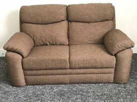 2 Seater cloth sofa in excellent condition