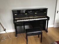 Yamaha B2 Silent Upright Piano in Polished Mahogany