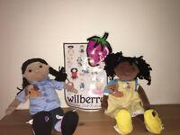pair of original Wilberry dolls in good used condition