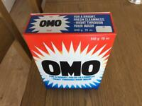 Box of omo washing powder from the 1960s. Free postage.
