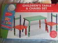Children's Table and 2 Chairs Set (Ryman's)