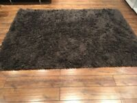 Ikea thick pile brown rug exc condition