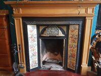 Period cast iron fireplace