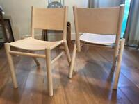 Tom Dixon stackable dining chairs