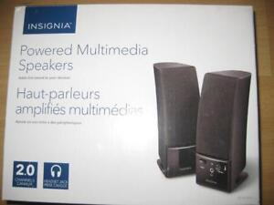Insignia 2.0 Stereo Computer Speaker. Audio Headset Jack. Volume Control. Laptop / Desktop / Macbook. Phone: 9057815781