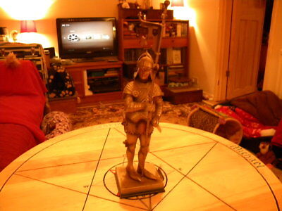 Stunning Vintage Complete Knight in Armour Table LIghtor - Very Rare Immaculate