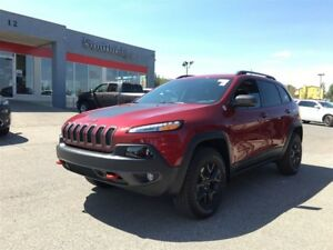 2017 Jeep Cherokee Trailhawk-4WD, LEATHER HEATED SEATS, NAVIGATI