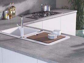 Kitchen Worktop Offcut - Egger - Boston Concrete Laminate Breakfast Bar