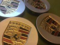 Porsche silver wheel centre caps