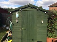 Shed tongue & groove approx 8x6ft, boarded out walls cost £600