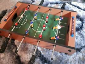 Football table with ball