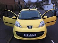 Peugeot 107 1.0 12v Urban 3dr 2005 REG Petrol Manual YELLOW 76,230 miles 998cc