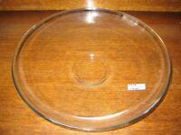 IKEA Crystal Glass Large Raised Circular Dish