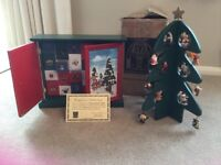 Wooden Advent Calendar by Thomas Pacconi with Christmas display tree