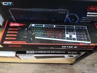 Jedel GK100 RGB LED Gaming Keyboard And 4D Mouse Set - Black/White - KB-JED-GK100