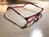 CLIC magnetic glasses +2d, red