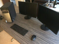 Lenovo H50 - 50 PC and 2x Large Monitors, wireless keyboard & mouse!