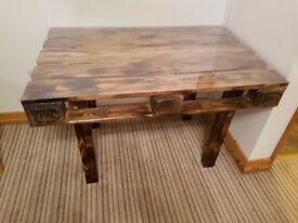 **PRICE DROP** Bespoke flammed pallet dinning table - burned look - kitchen furniture