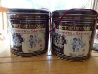 FREE - 2 empty pannettone tins