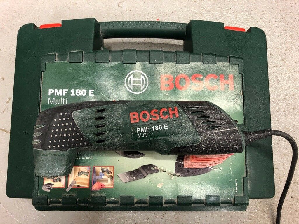 bosch pmf 180 e multitool inc case blades multi tool sanding cutting in cambuslang glasgow. Black Bedroom Furniture Sets. Home Design Ideas