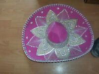 Perfect condition, pink Sombrero fancy dress hat .