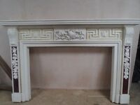 Reclaimed Ornate Large Wooden Fireplace