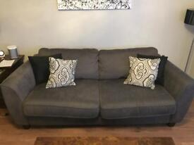 Heal's Grey 3 seater sofa. Excellent condition.
