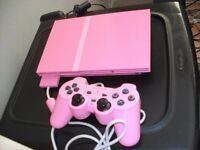 sony playstation 2 game console, 6 games controller & leads