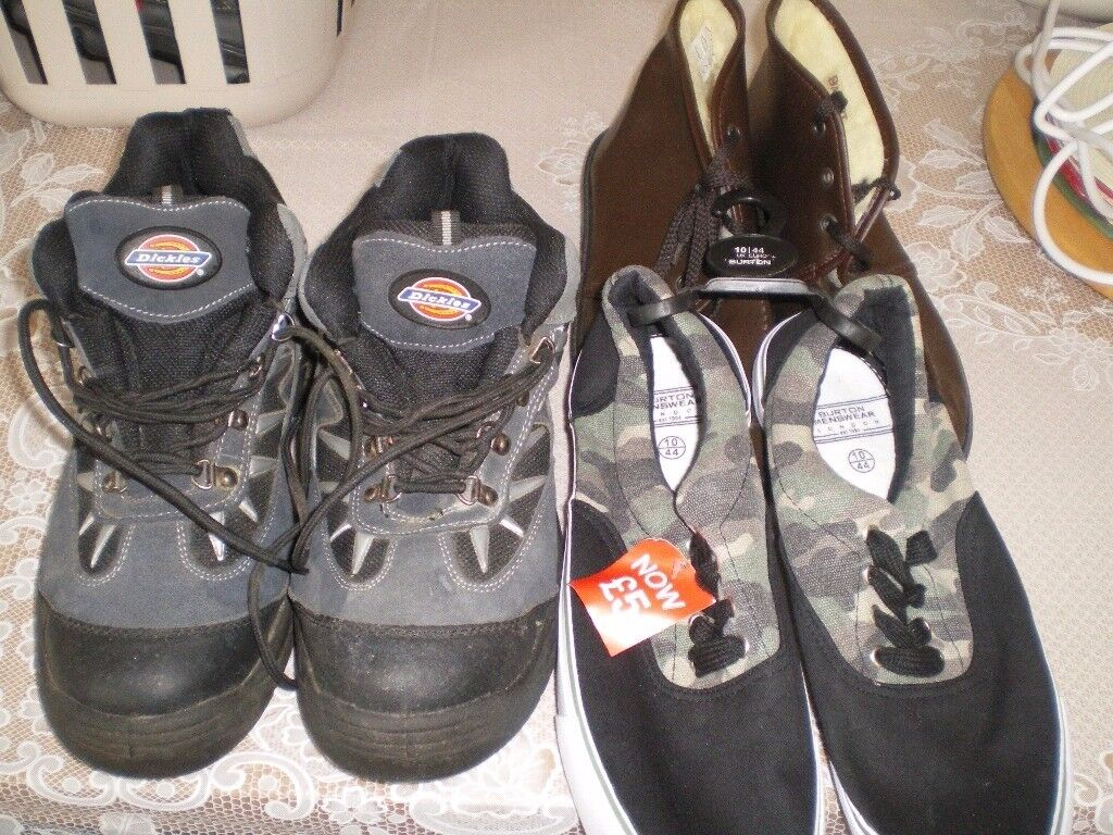 MENS BOOTS AND TRAINERS SIZE 10 X 3 PAIRS