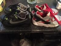 Nike trainers kids size 10 & 11