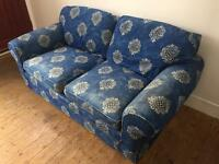Blue Sofa with Pattern