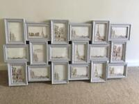 Vintage Style Multi Aperture Picture Frame - Dove Grey