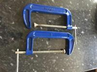 "Rolson 8"" G clamp tool x 2 NEW Heavy Duty"