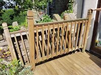 Decking fence panel ends