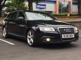 2010 AUDI A6 AVANT S LINE * 2.0 TDIe * F.S.H * BLK LEATHER * SAT NAV * XENONS * PX * DELIVERY * FIN