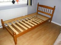 Solid Pine Single Bed Very Good Condition