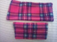 Tartan fleece phone sock and pouch