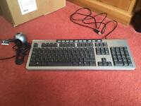 Fujitsu keyboard and Logitech webcam