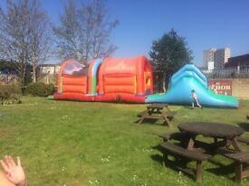 Commercial bouncy assault course