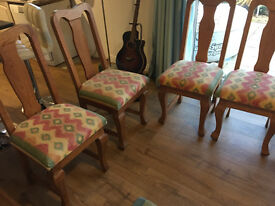 6 rustic hand-made chairs