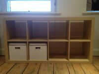 Shelving unit VERY good condition, space for 8 boxes or other use (doesn't come with boxes)