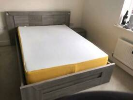 Gami Eden European double bed with bedside cabinet *Brand New*